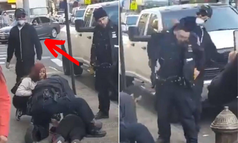 Snimka iz New Yorka: Prišuljao se policajcu i udario ga šakom