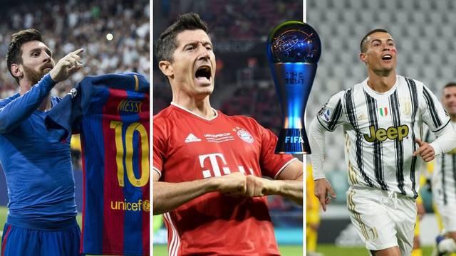 Nema Hrvata: Lewa, Ronaldo i Messi u Fifinih 11 za naj-igrača