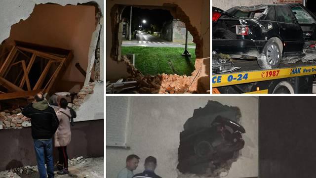Detalji užasa u Novoj Gradiški: Projurio kraj znaka stop, probio je zid kuće i umro na mjestu...
