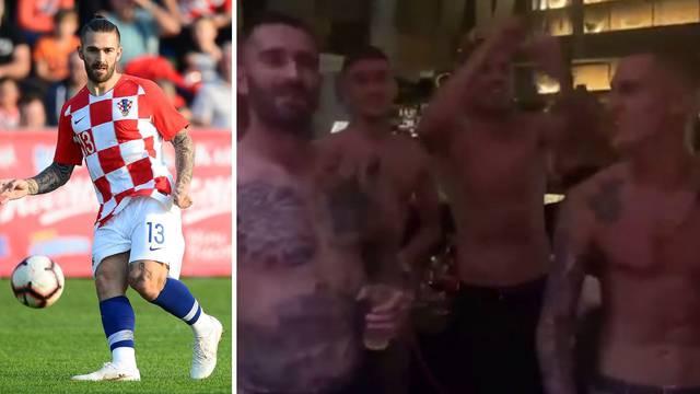 Splitski nogometaš gol do pasa zabavljao se na nastupu Cece...