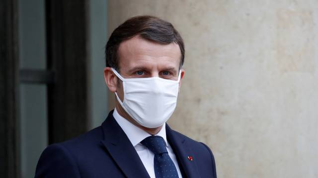 FILE PHOTO: French President Emmanuel Macron at the Elysee Palace in Paris