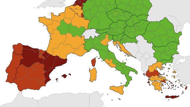 ECDC objavio novu covid kartu: Naša obala i jadranske županije i dalje su u narančastom