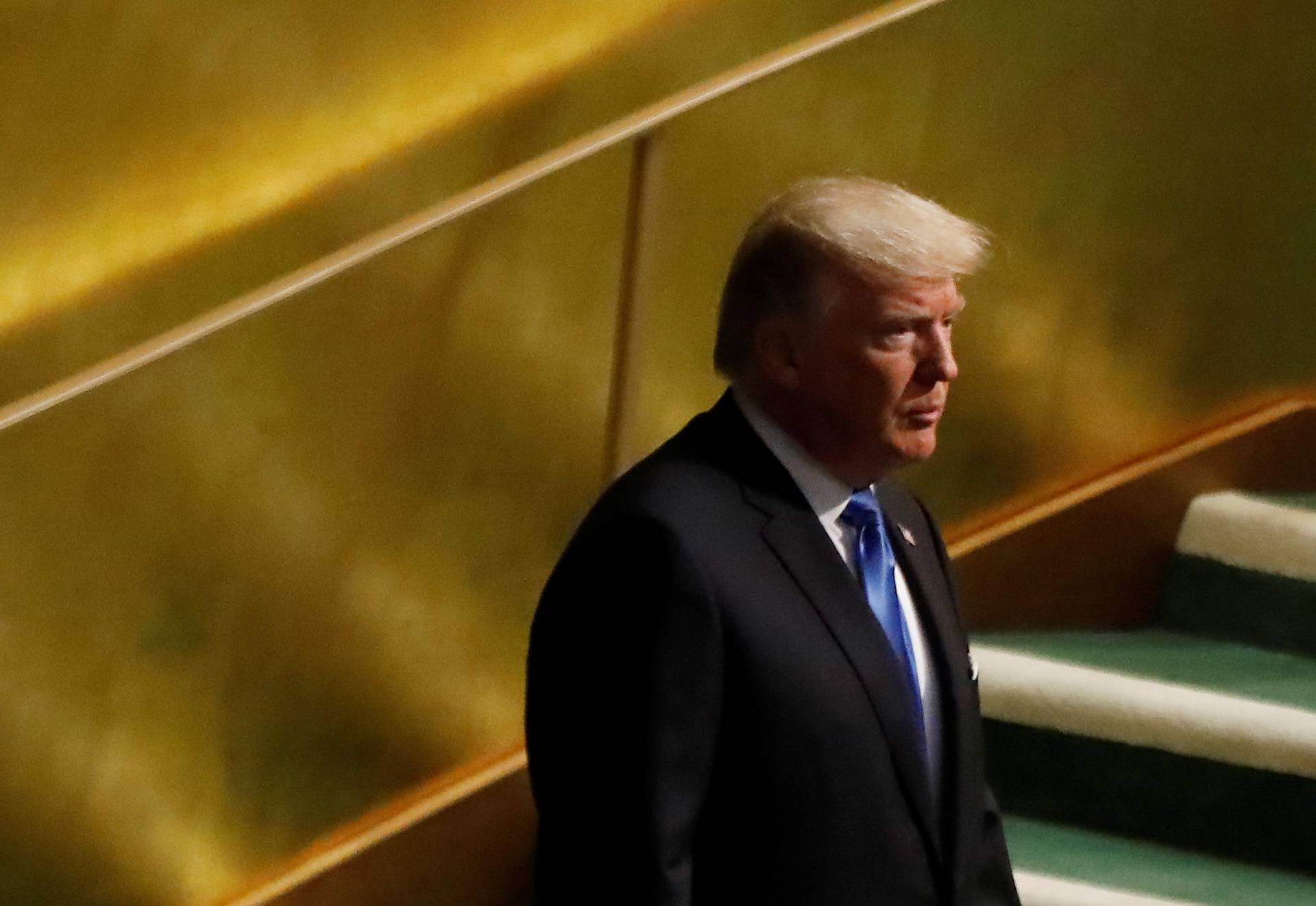 U.S. President Donald Trump arrives to address the 72nd United Nations General Assembly at U.N. headquarters in New York