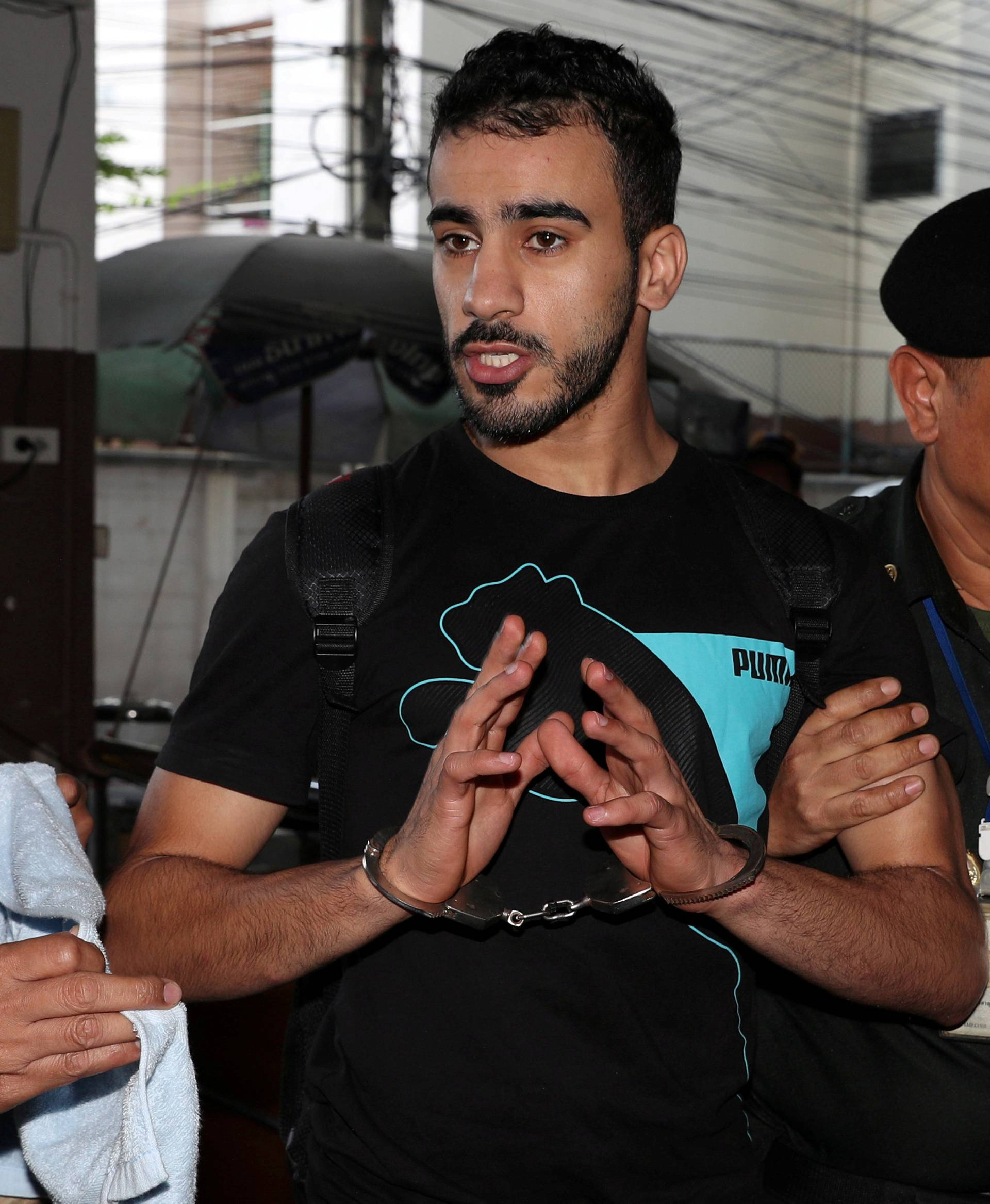 FILE PHOTO: Former Bahrain soccer player Hakeem Al Araibi, who holds a refugee status in Australia, at court in Bangkok, Thailand Dec 11, 2018