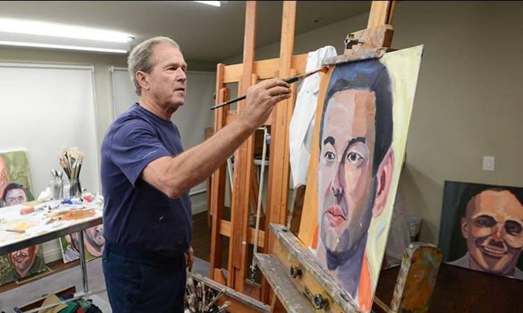 George W. Bush slika portrete imigranata i piše knjigu o njima