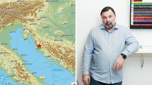 Dalmacija se tresla, seizmolog Kuk: 'Očekuje se još naknadnih'