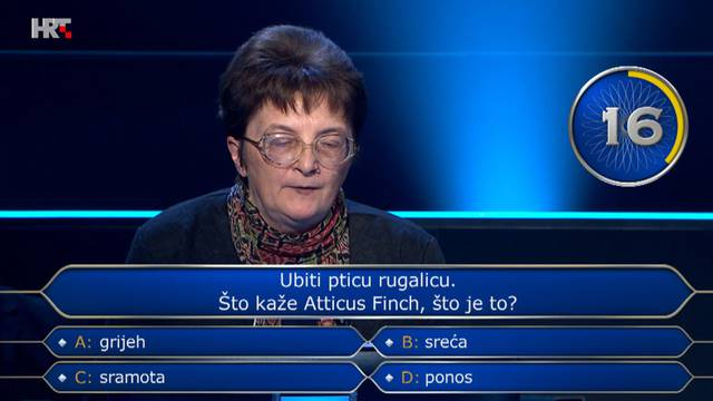 Iskoristila sve džokere na ovom pitanju: Znate li točan odgovor?