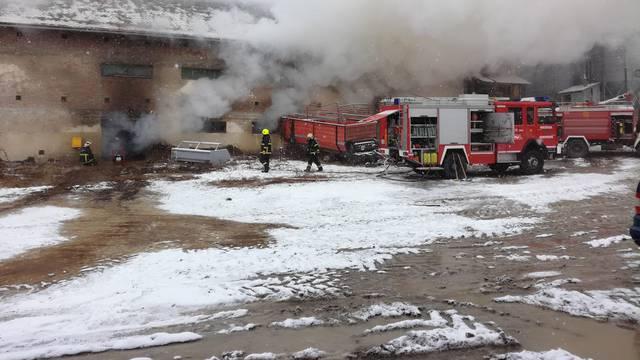Gori konoplja u skladištu kod Požege: Dim ometa vatrogasce