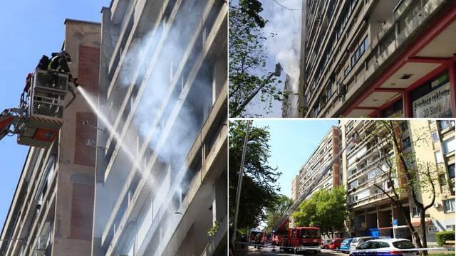 Požar u Zagrebu: Buktinja na balkonu vidjela se s ulice...