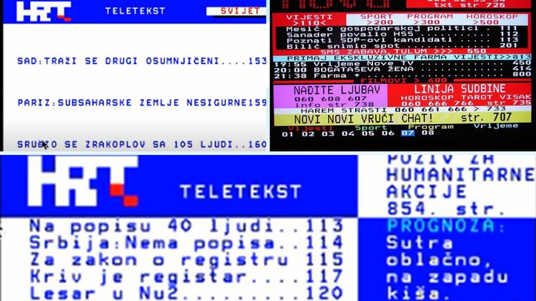Teletekst je bio internet prije interneta, ali bez č,ć, ž i š...