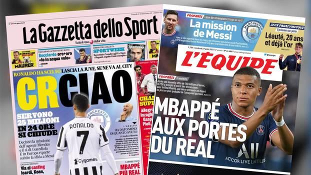 Gazzetta poručila: Ronaldo ciao! Mbappe pred vratima Madrida