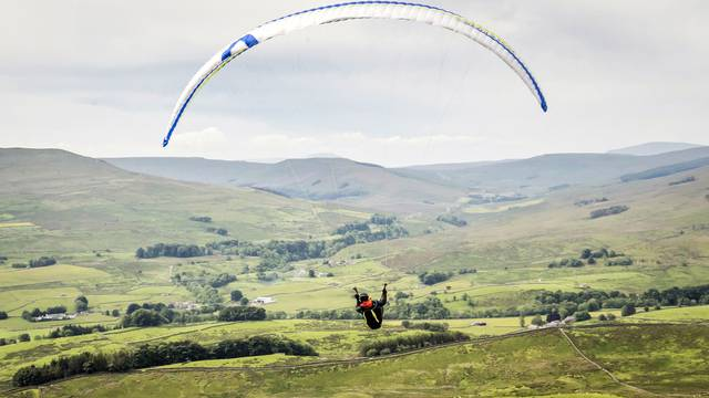 Paragliding in the Yorkshire Dales National Park