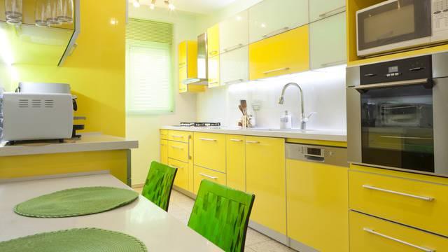 U kuhinjama se nose detalji ili zidovi u živim žutim nijansama