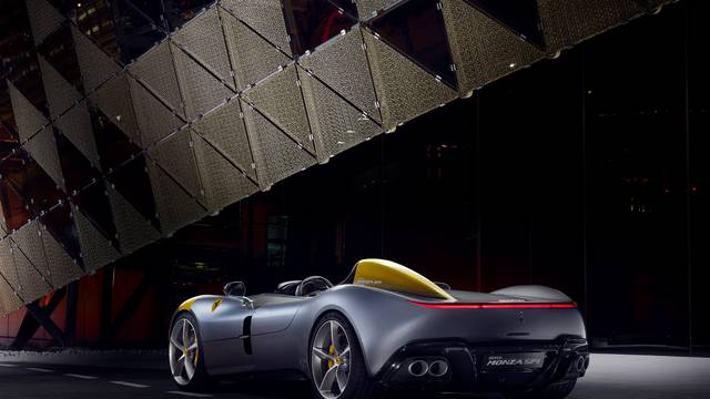 Ferrari's new Monza SP1 is seen in this picture released by Ferrari press office during a meeting in Maranello