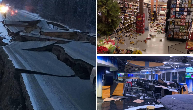 Potres na Aljasci uništio urede i trgovine: Puknula je i cesta!