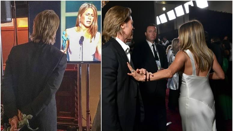 Brad joj nije htio pustiti ruku: Zaljubljeno je gledao u Aniston