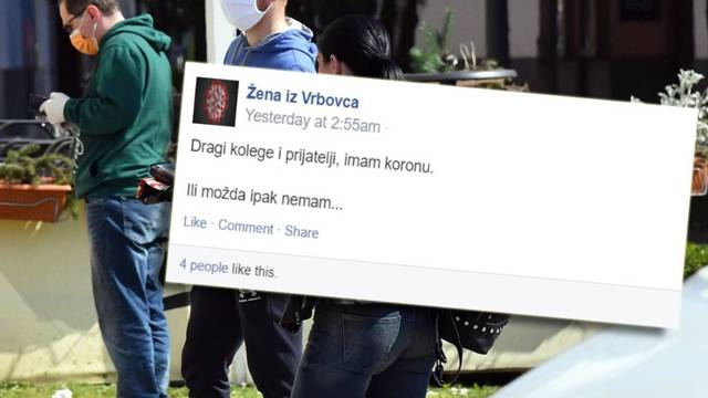 'Ljudi, zaražena sam!': Žena iz  Vrbovca lagala je da ima virus