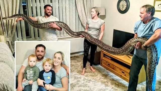 U kući s dvoje male djece drži pitona od 5,5 metara i 110 kg