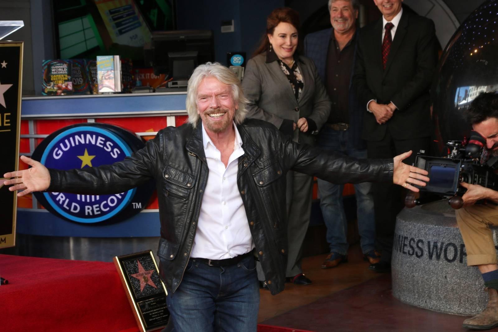 USA - Sir Richard Branson Star Ceremony - Los Angeles