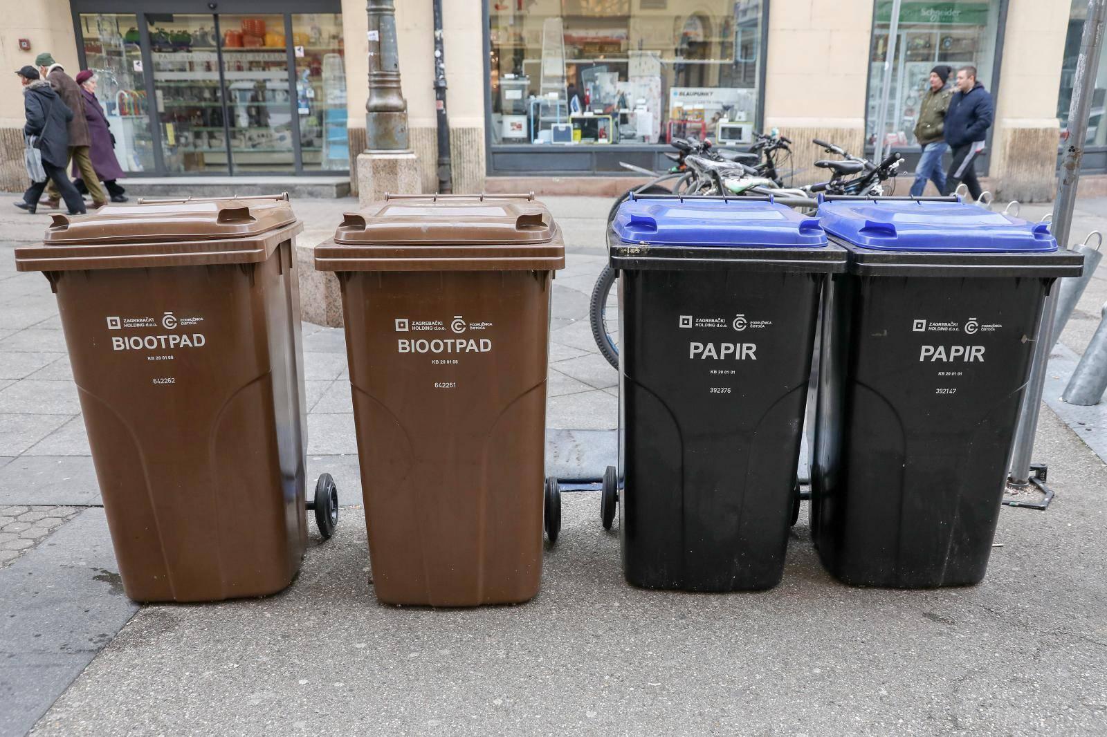Kante za smeće u Zagrebu