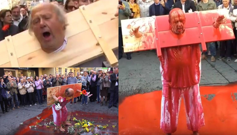 Okovanog Zijaha Sokolovića su zalili vodom i crvenom bojom