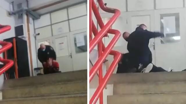 VIDEO Bez maske htio ući na sud u Splitu pa napao policajce. Sad je za to dobio kaznenu prijavu
