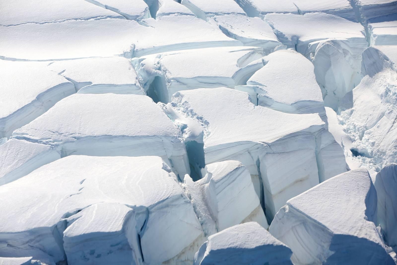 FILE PHOTO: A glacier is seen in Half Moon Bay, Antarctica