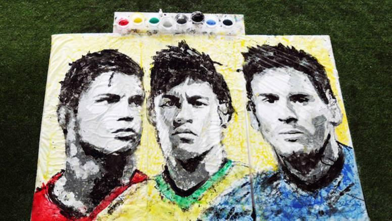 'Driblala' po platnu i naslikala nogometne zvijezde