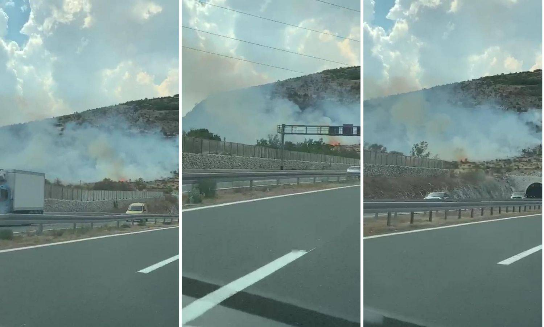Požar kod Dugopolja: Gasi ga 30 vatrogasaca, brzo se širi...