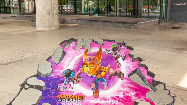 Ratchet & Clank: Rift Apart 3D mural ispred MSU-a prebacit će vas u drugu dimenziju