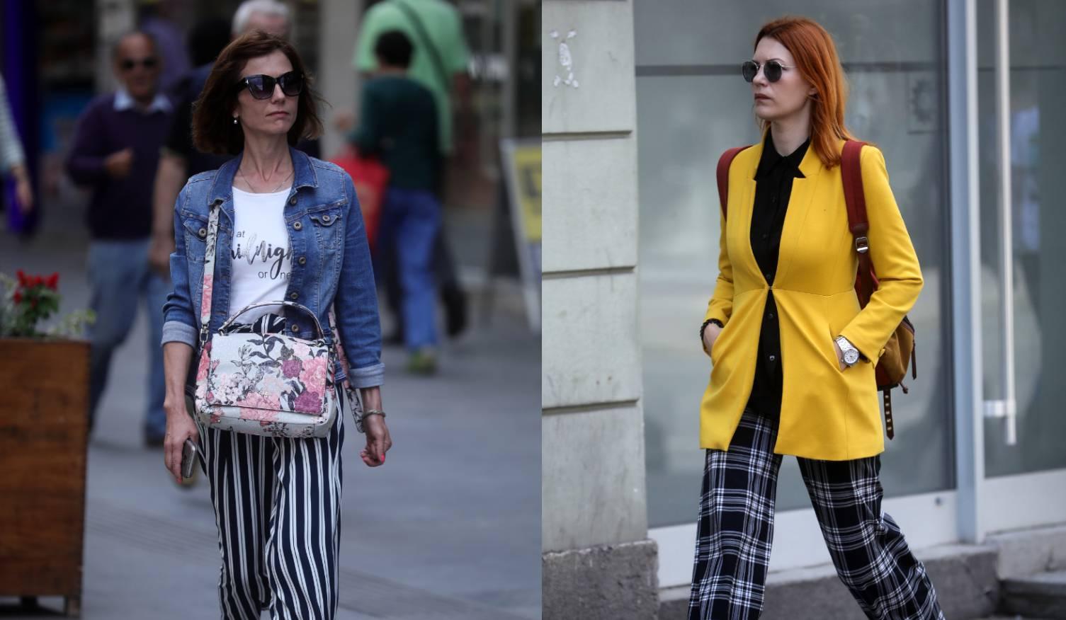Sarajevo street style: Lepršave široke hlače plus sako u boji