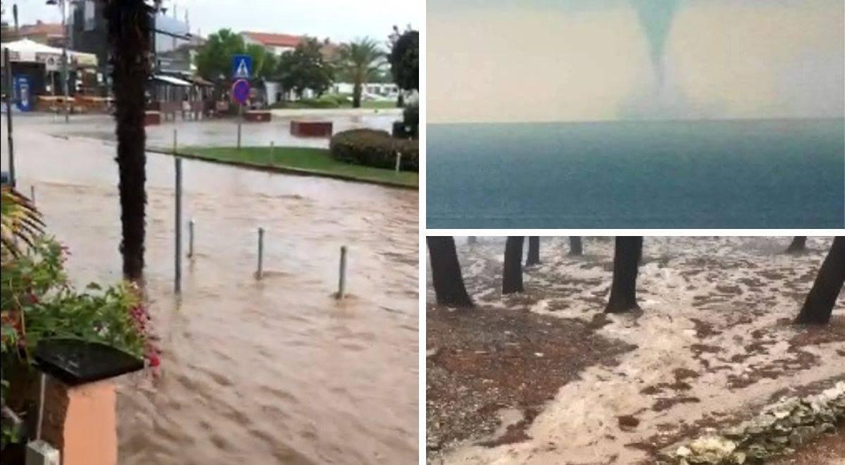 Nevrijeme poharalo Istru: Ulice 'plivaju', kod Brijuna 2 pijavice