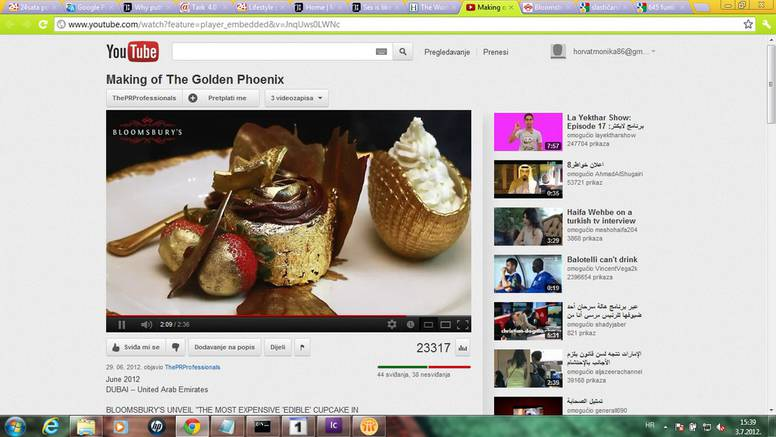 Najskuplji se kolač na svijetu sastoji od 23 karatnog zlata