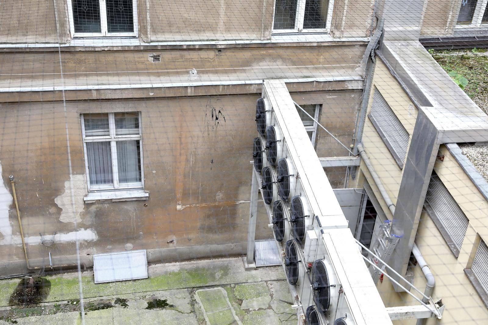 Zagreb: Unutarnje dvorište zgrade Sabora