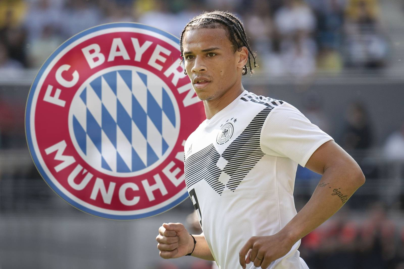 Change Leroy SANE to FC Bayern Munich.