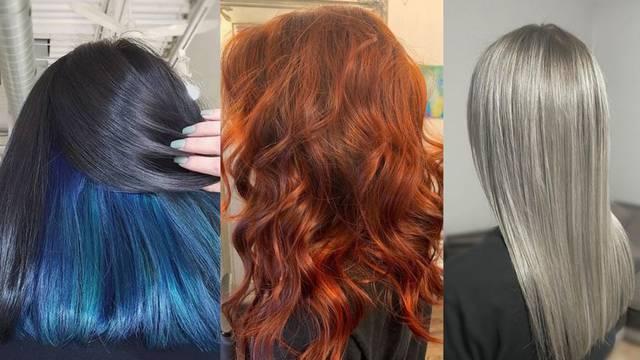 Nijanse kose za 2021.: Duboka plava, narančasta i metalik ton