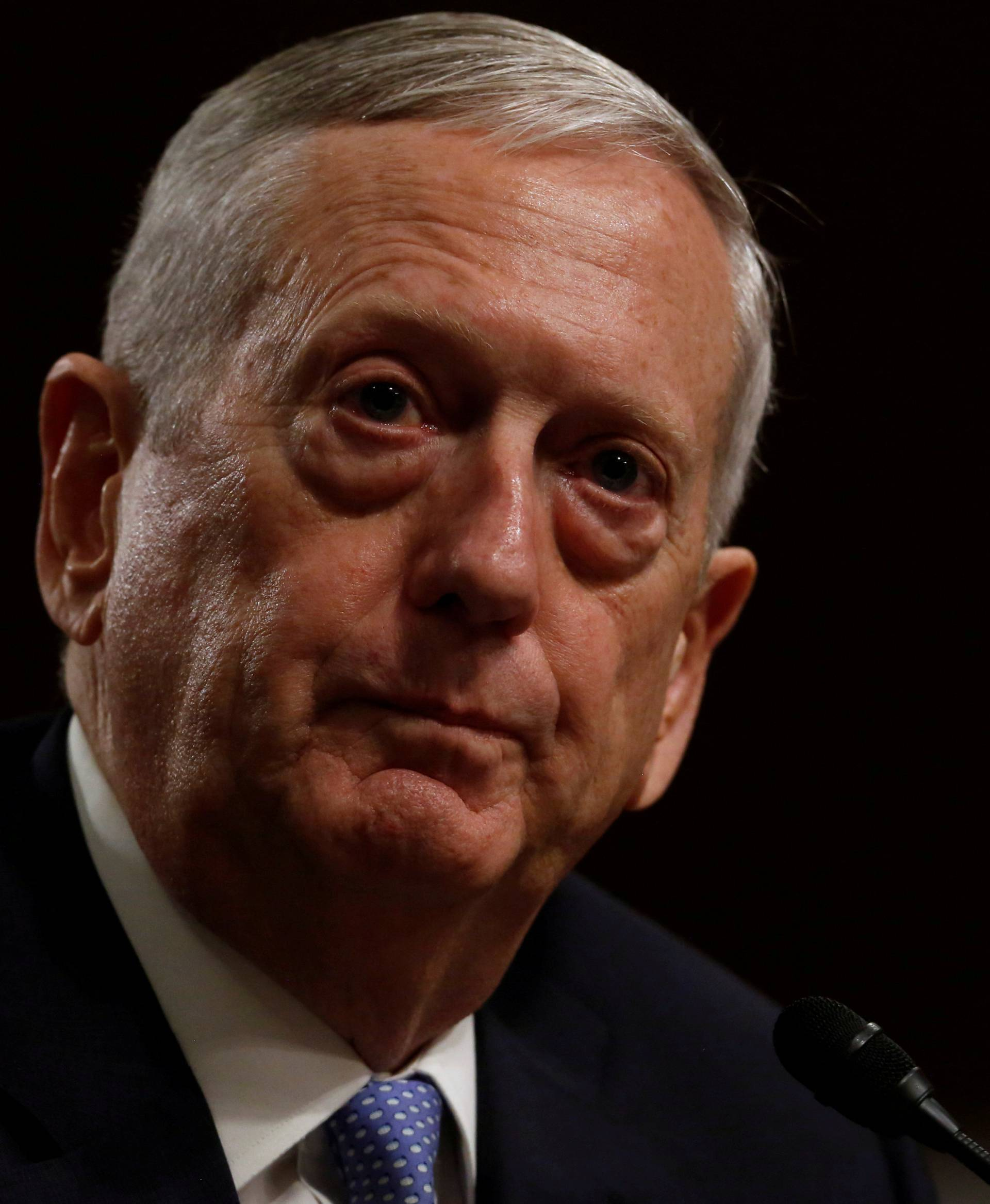 FILE PHOTO - Mattis testifies before a Senate Armed Services Committee hearing on his nomination to serve as defense secretary in Washington