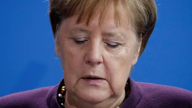 German Chancellor Angela Merkel gives a statement in Berlin