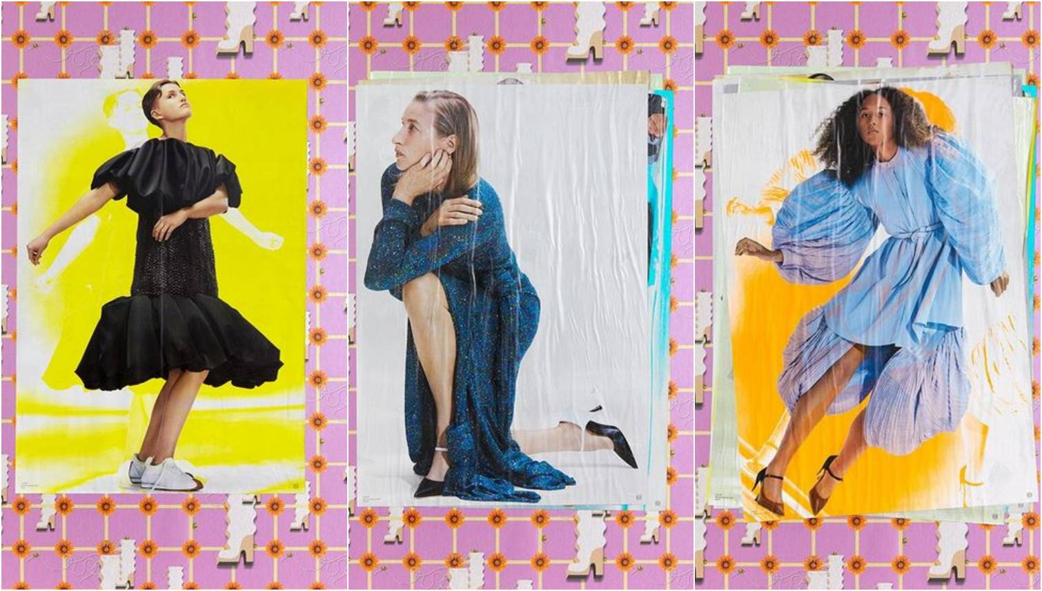 Jonathan Anderson za Loewe: Velike haljine na posterima, tapete i salonke s plaštom
