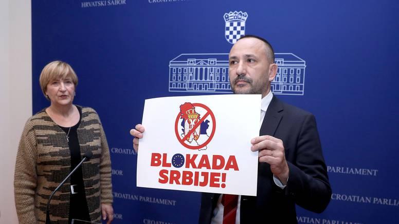 'Srbiji blokirati pregovore s EU dok ne prizna agresiju na RH'