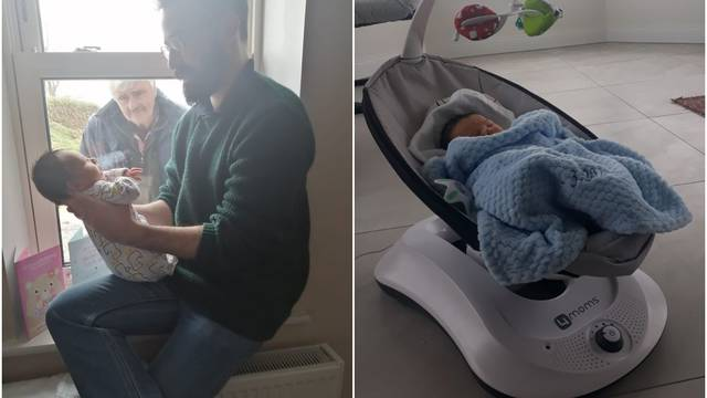 Novorođenog unuka djed je po prvi put vidio preko prozora