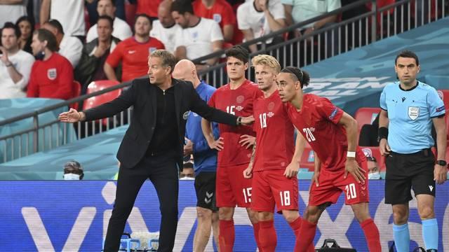 Football EURO 2020 semi-finals / England -Denemark 2-1 nV