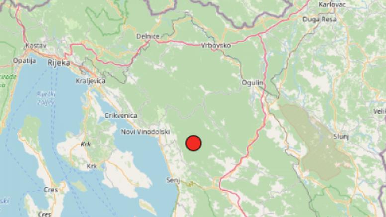 Slabiji potresi kod Senja i Visa