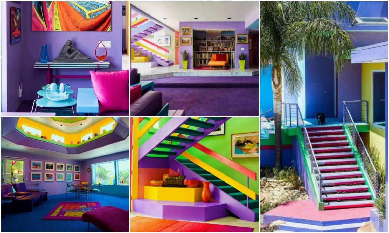 Kuća ove umjetnice je izvana i iznutra u različitim bojama