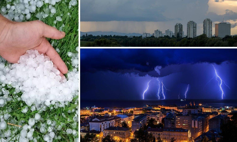 Tuča u Međimurju, pljusak i jak vjetar u Zagrebu: 'Promjena vremena bit će brza i žestoka'