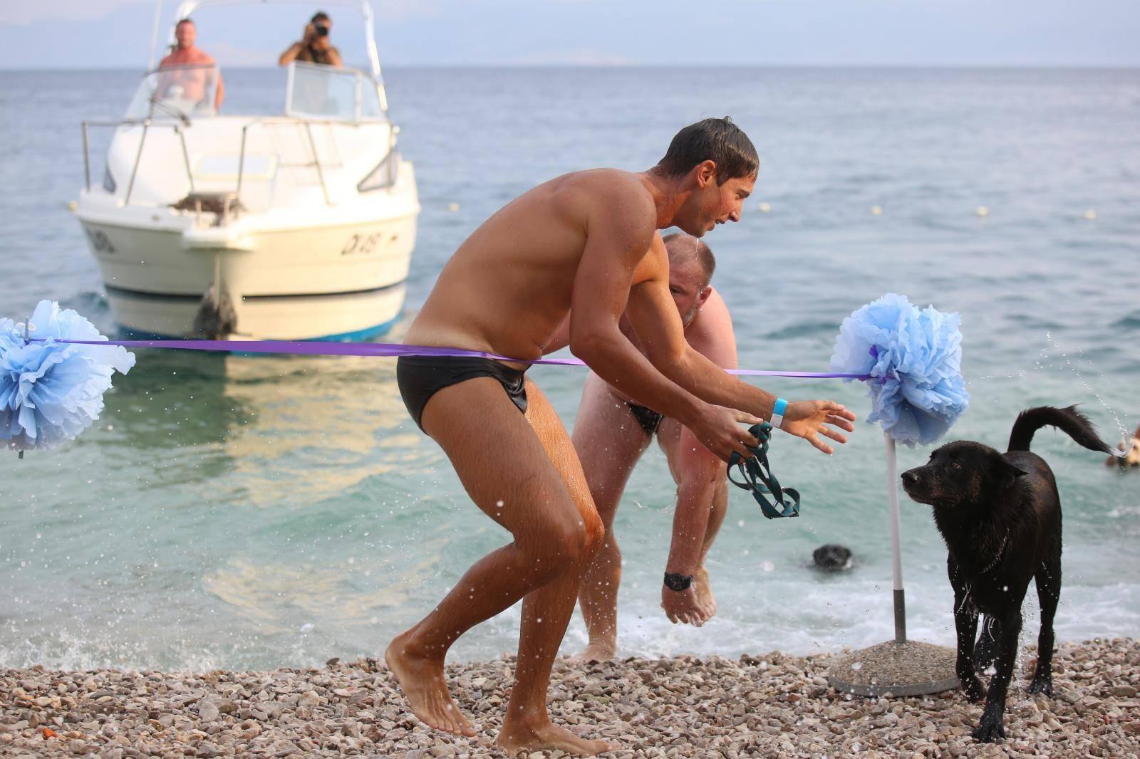 U crikvenici je održano plivačko natjecanje pasa i njihovih vlasnika