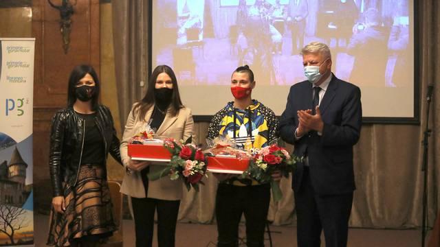 Rijeka: Svečani prijem za rukometašice Dejanu Milosavljević i Katarinu Ježić