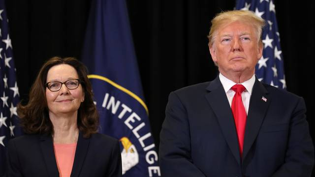 Trump attends CIA swearing-in of Gina Haspel in Langley