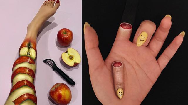 Vizažistica kojoj cilj nije ljepota već optička iluzija: Stvara od ruku i nogu 'mračne' sendviče