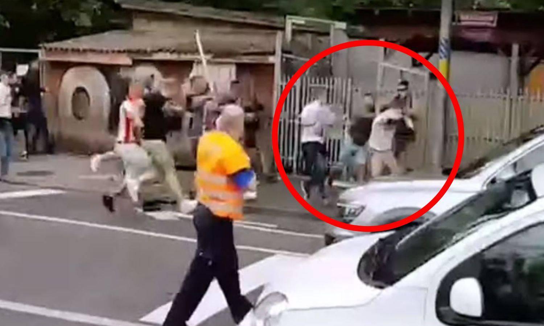 Kaos: Stotinjak Delija pretuklo jednog Švicarca, policija pucala